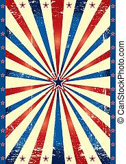 Tricolor US grunge paper