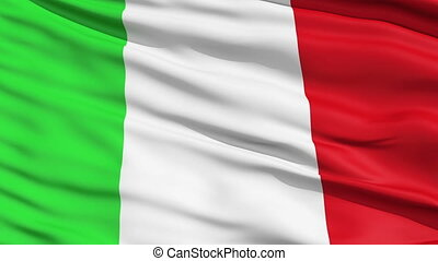 Flag of Italy - Tricolor waving national Flag of Italy...
