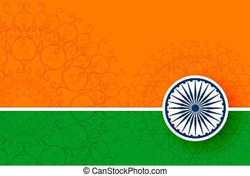 tricolour indian flag background with text space