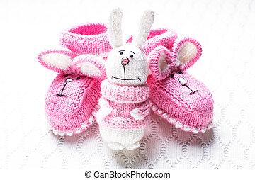 tricoté, butins bébé