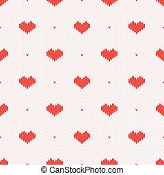 tricoté, modèle, seamless, coeur