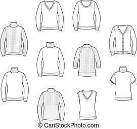 tricoté, sauteurs