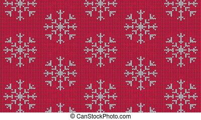 tricoté, scandinave, modèle, flocon de neige, chandail
