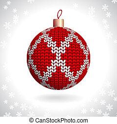 tricotado, bola, natal