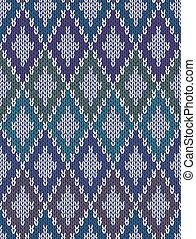 tricotado, gingham, lã, quadrados