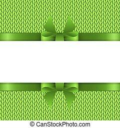 tricotado, texto, fundo, espaço