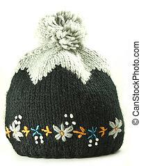 tricotado, woolen, boné