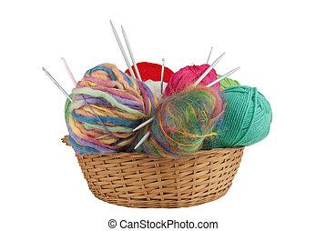 tricotando, equipamento