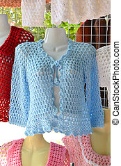 tricotando, roupas