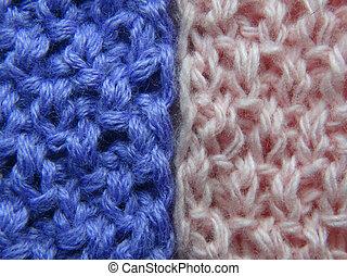 tricotando, tecido, roupas