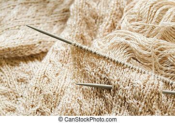 tricotando, trabalho