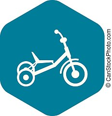 Tricycle icon, simple style - Tricycle icon in simple style...