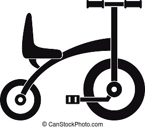 Tricycle icon, simple style