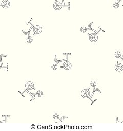 Tricycle pattern seamless vector repeat geometric for any...