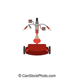 Tricycle vector bike bicycle icon isolated toy red ride wheel transportation kids illustration child