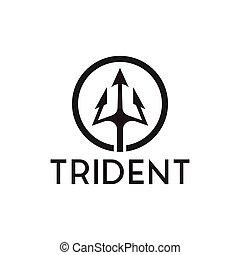 Trident logo inspiration - Set of trident logo inspiration...
