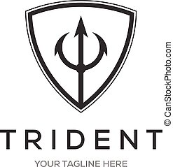 Trident Logo Template vector icon illustration design
