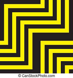tridimensional, 抽象的, 黄色, blabk, 下降, 見通し
