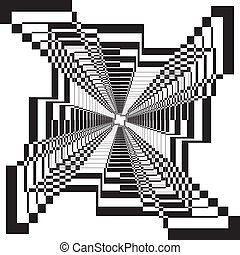 tridimensional, 構造, タワー, アラベスク, 背景