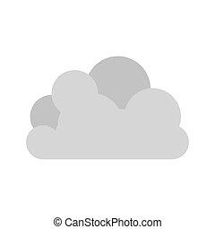 tridimensional, 灰色, 形, 雲, 積乱雲