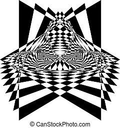 tridimensional, 王位, 錯覚, アラベスク