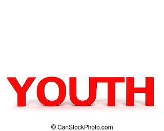 tridimensional, juventud, texto