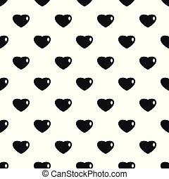 tridimensional, patrón del corazón, seamless, vector