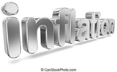 Tridimensional Word 'Inflation' - Shiny Tridimensional...