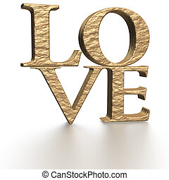 tridimensionale, iscrizione, amore