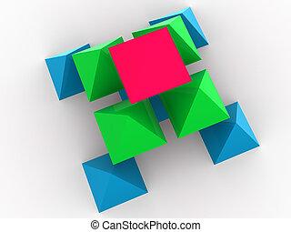 tridimensionnel, concept