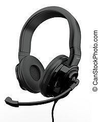 tridimensionnel, headphones., 3d