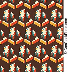 tridimensionnel, modèle, résumé, shapes., seamless, géométrique