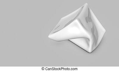 tridimensionnel, render, résumé, forme., blanc, 3d