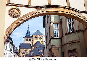 trier, ドイツ, 聖者, 大聖堂, ピーター, 光景