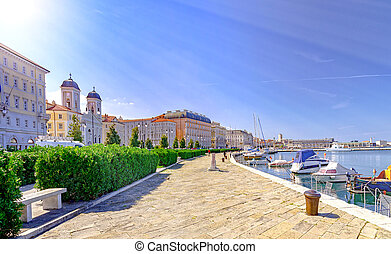 trieste, adriatic, イタリア, 海