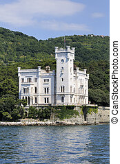 Trieste (Italy), Miramare Castle - Miramare Castle in...