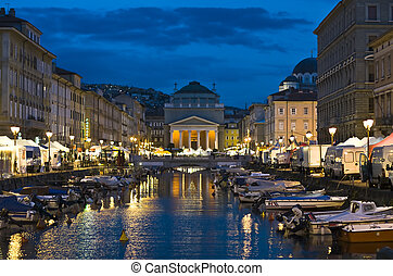 Trieste - Ponterosso - Trieste, Vista di Pomperosso al...