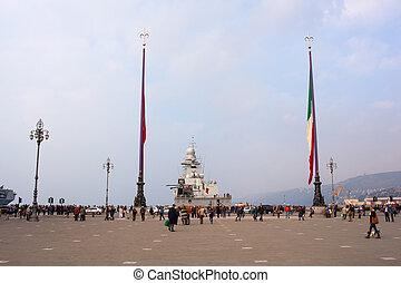 Trieste - TRIESTE, ITALY - NOVEMBER, 02: View of the Frigata...