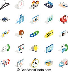 Trifle icons set, isometric style - Trifle icons set....