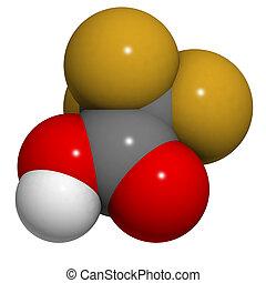 trifluoroacetic, οξύ , (tfa), μόριο , χημικός , structure.