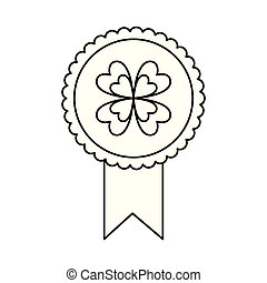 trifoglio, concetto, rosetta, fortunato, premio, medaglia