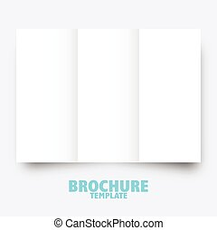 Trifold brochure business template for publishing, presentation.