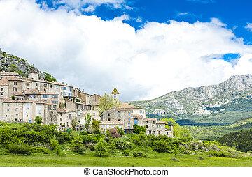 Trigance, Var Department, Provence, France