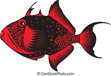 Trigger fish. - A colourful trigger fish.