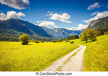 Triglav national park Slovenia - Fantastic panorama on the...