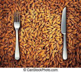 trigo, comer