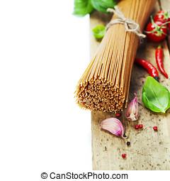 trigo integral, espaguetis