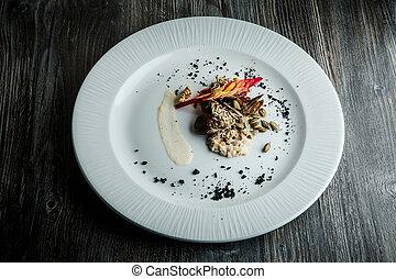 trigo, salada, fishtail, nozes, sementes, gostosa, brotos