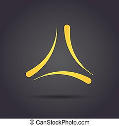 Trigon delta letter sign