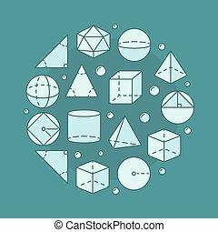 Trigonometry circular illustration - Trigonometry and...